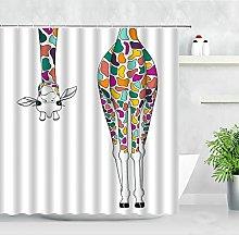 Giraffa Tenda Della Doccia Arte Africana Animale