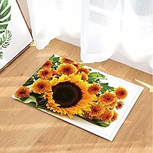 Girasole dorato per decorazioni vegetali Tappeto