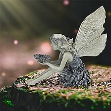 Girasole Fatina Statue Da Giardino,Ragazza Uccelli