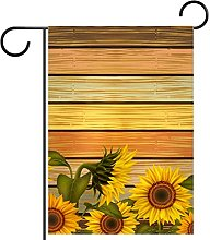 Girasoli su colore legno bordo bandiera giardino