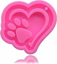 GJEFEGS Bear Paw Heart Silicone Sugarcraft Cupcake