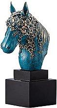 GJZEYBJE Testa di Cavallo Scultura Figurine