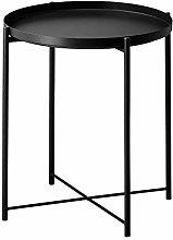 GLADOM - Vassoio da tavolo, colore: Nero