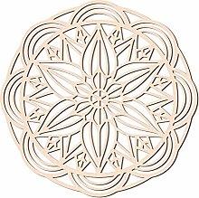 GLOBLELAND 12,2 pollici fiore piatto decorazione