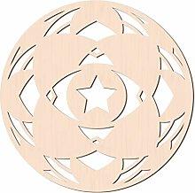 GLOBLELAND 31 cm Fiore Stella Parete in Legno Arte
