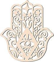 GLOBLELAND 31 CM Hamsa Hand Wood Wall Art