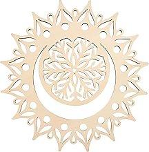 GLOBLELAND 31 CM Luna Mandala Fiore Parete in