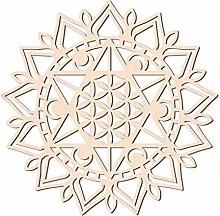GLOBLELAND 31 CM Mandala Fiore della Vita Arte da