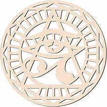 GLOBLELAND 31 CM Occhio di Horus Parete in Legno
