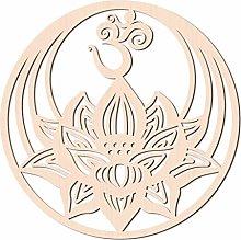 GLOBLELAND 31 cm Om Lotus Mantra Decorazione da