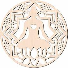 GLOBLELAND 31 CM Sakyamuni Buddha Lotus Wood Wall
