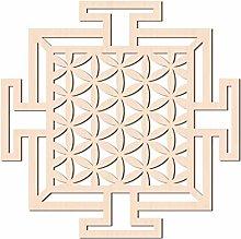 GLOBLELAND 31 CM Seme della Vita Quadrato Parete