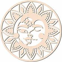 GLOBLELAND 31 cm Sole e Luna Arte da Parete in