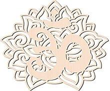 GLOBLELAND 31cm Fiore con Ohm Parete in Legno Arte