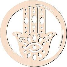 GLOBLELAND 31cm Hamsa Hand Parete in Legno Arte