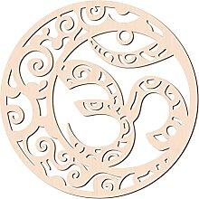 GLOBLELAND 31cm Ohm Parete in Legno Arte Geometria