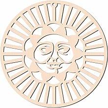 GLOBLELAND 31CM Sun Face Parete in Legno Arte