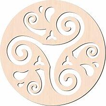 GLOBLELAND 31CM Triskelion Parete in Legno Arte