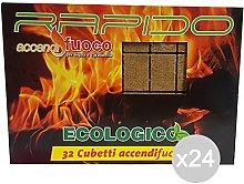 Glooke Selected Set 24 Accendifuoco Rapido 32 Cubi