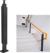 GLP scala corrimano colonna/nero in acciaio inox