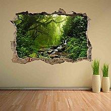 Gnailur Tropical Forest River 3D Adesivo Murale