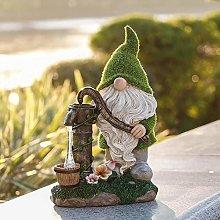 Gnome Art Scultura per Prato Yard Balcone,Solare