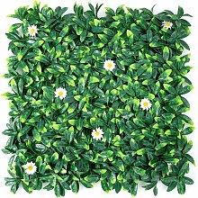 Goplus - Siepe finta artificiale con foglie di