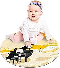 Gordesc, tappetino rotondo per pianista che gioca