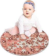Gordesc, tappeto rotondo in scala rosa, lavabile,