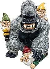 Gorilla Nano Statua Artigianale Giardino Scimmia