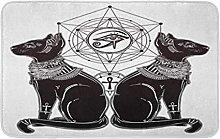 Gotico Devil Imp Like Cat Head Ritratto Con Riccio