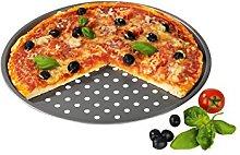 Gourmet Maxx Teglia per Pizza, Alluminio, Grigio,