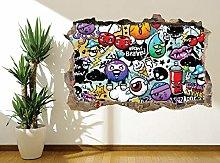 Graffiti adesivo bomba stile adesivo da parete
