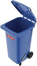 Grande bidone della spazzatura 240l HDPE blu