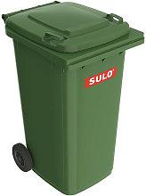 Grande bidone della spazzatura 240l HDPE verde,