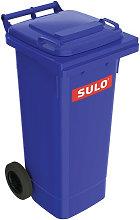 Grande bidone della spazzatura 80l HDPE blu