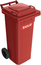 Grande bidone della spazzatura 80l HDPE rosso