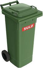 Grande bidone della spazzatura 80l HDPE verde,