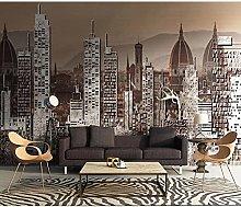 Grande colore 3d città carta da parati murale