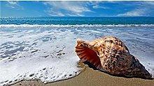 Grande Conchiglia Sulla Spiaggia Puzzle In Legno