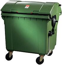 Grande contenitore per rifiuti 1,1 m³ HDPE verde