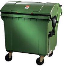 Grande contenitore per rifiuti 1,1 m3 HDPE verde