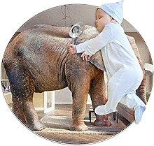 Grande elefante zerbino rotondo lavabile