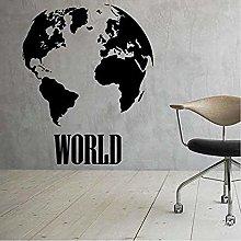 Grande Mappa Del Mondo Adesivo Casa Camera Da