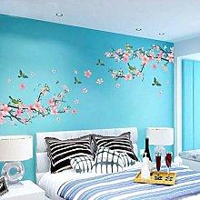Grandi Fiori Di Ciliegio Rosa Albero Farfalla