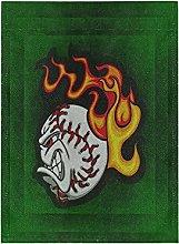 Green Fire Baseball Bandiera del Giardino Banner