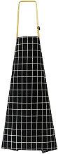Grembiule da cucina con tasca casa nero plaid