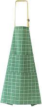 Grembiule da cucina con tasca casa verde plaid