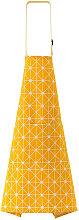 Grembiule da cucina con tasca plaid giallo
