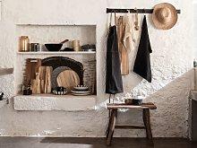 Grembiule da cucina in cotone grigio antracite
